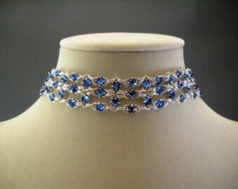 More Colors Swarovski Crystal Brick Choker Necklace