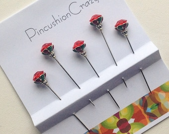Harlequin Pins - Fancy Pins - Stick Pins - Embellishment Pins - Scrapbook Pins - Cardmaking
