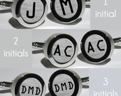Mens Initial cufflinks/Groomsmen Gifts/Wedding Gifts/Monogram Personalized Cufflinks/Multiple sets/Free Shipping in the USA - Font OCR