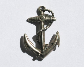 Vintage Sterling Silver Anchor Pendant