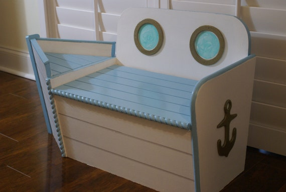Toy Chest Wooden Toy Box Boat shaped wood toy chest FREE