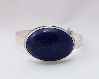 Lapis and Sterling Silver Cuff Bracelet