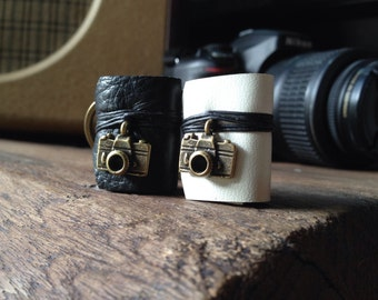 1 Get 1 Free Couple Miniature Book keychain Camera Black & White color Leather