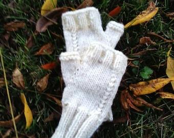 Handmade Fingerless gloves knit