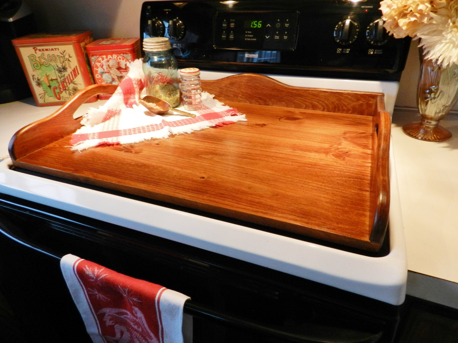 Wood Stove Board Wood Noodle Board Stove Tray by ...