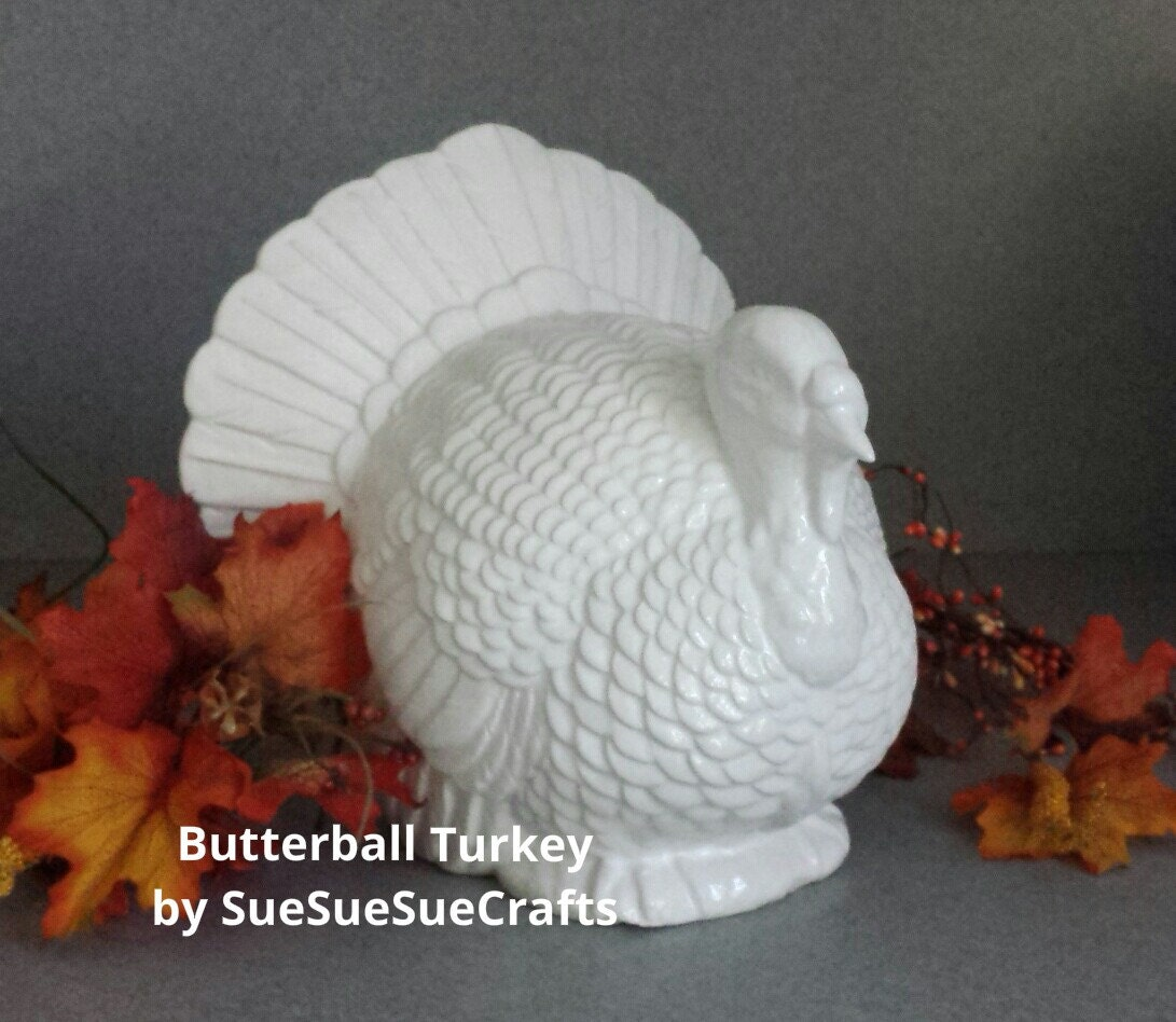 Ready to ship inches tall table top handmade ceramic turkey