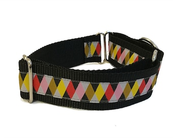 Yellow Plaid Wide Martingale