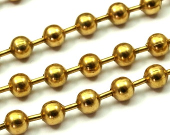 Big Ball Chain, 5 M. (4.5mm) Raw Brass Ball Chain  Z155