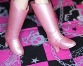 Blythe Light pink shimmer Heeled Doll Boots