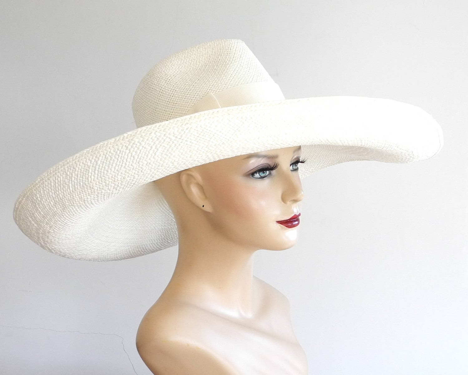 floppy wide brim panama fedora hat womens sun hat by