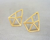 Structure Post Earrings, Geometric earings, signature earings, Architectural jewelry