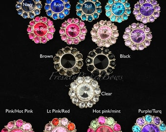5 Acrylic Round Rhinestone buttons size 25mm U choose colors