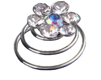 10X Spiral diamond twist Bridal Wedding Clip Hair Pin  C941
