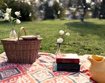 Picnic Blanket, Organic Picnic Blanket, Wedding Gift, Luxe