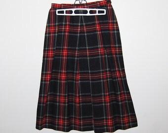 Vintage Skirt Pendleton A Line Wool Plaid