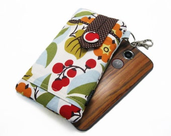 Fabric iPhone 6, 6s, 6 plus Pouch, Cell phone case for Moto x, Galaxy 6, 6 edge, HTC One m9, LG 4g, Nexus 6 - Multi Mod Floral