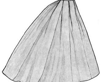 Truly Victorian Ladies Civil War era 1865 Elliptical Skirt Pattern TV247