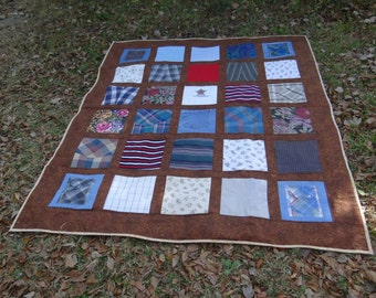 Memory quilt  from your loved ones clothing