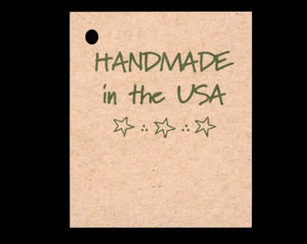 100 HANDMADE in the USA Hang Tags -100 Color Strings Included -  Price Tags
