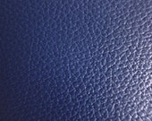 Faux Leather Fabric in Cow Leather Pattern - Dark Blue Faux Leather Fabric By The Yard - Half Yard