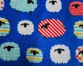 Japanese Fabric Oxford Cotton - Baa Baa Sheep in Royal Blue - Fat Quarter - Sopo Muoto from Japan
