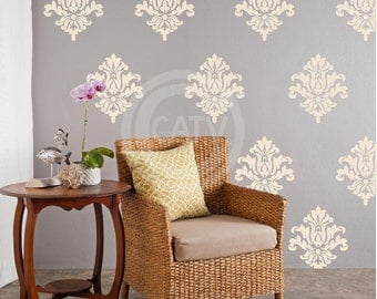 vinyl decals damask pattern set of 10 vinyl lettering wall decal stickers room art decor self - Design Stickers For Walls