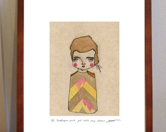 Bubblegum-pink Just Ain't My Colour - A4 Print for the not so girly girls