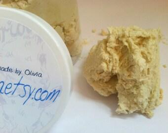 Whipped ARGAN + Honey CREAM Goat Milk Soap UNSCENTED | Calendula, Chamomile + Comfrey | creamy soap frosting | 6 oz | sensitive skin lather