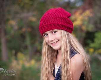 Crochet Slouch Hat for Woman and girls