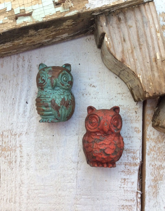 Items similar to Owl Drawer Pull Farmhouse Style Owls Handles Cabinet Pul