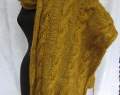 Extra Long Spring Fashion Big French  Shawl with Sparkly Mohair Knit  Wreap Stole