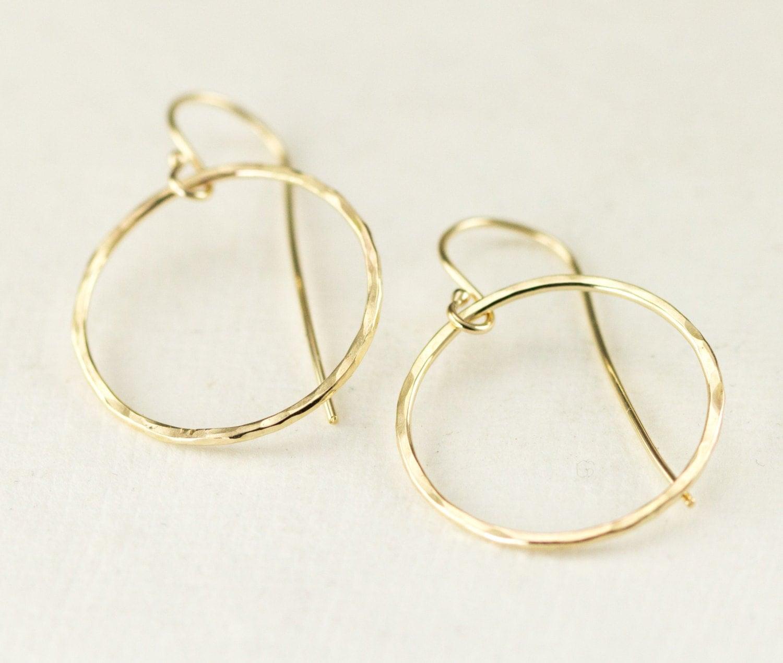 14k gold hoop earrings 14k gold dangle earrings yellow