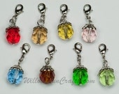 Crystal Charms with Lobster Clasp, Charms for your Bracelets, Keychains, and More! Limited Qty