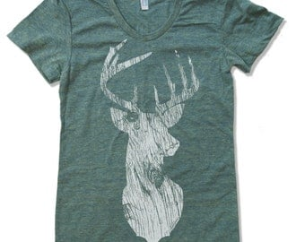 Womens DEER  t-shirt american apparel S M L XL (16 Colors Available)