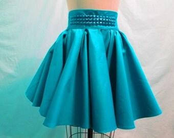 Studded Flare Skirt
