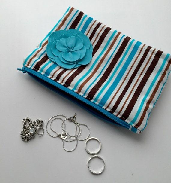 anti tarnish zippered jewelry organizer travel jewelry box