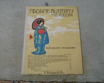 1904  sheet music (  madame butterfly )