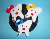 Fabulous Felt Teeth Barrette