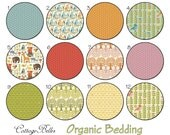 Organic Changing Pad Cover  [ Forest Parade ] Woodland Owls Bears Racoons Foxes Deer  by Cottage Belles