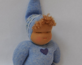 Baby Wlison - Blue Sweetheart Baby - Waldorf Plush Doll