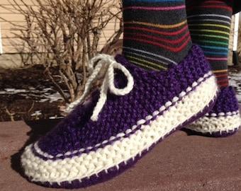 Wannabe Vans Slippers for Women - Knitting Pattern, sizes Sm, Med, Lg, XL