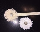 Headband and clip RESERVED for Jennifer Wright Sharp