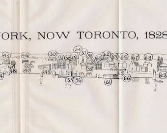 1908 Rare Print of York (Toronto) in 1828
