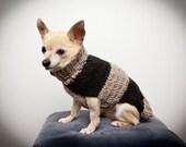 Wool grey and black dog sweater