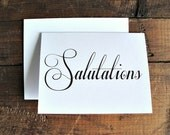 Salutations - Greeting Card