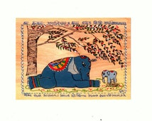 popular items for elephant yoga art on etsy