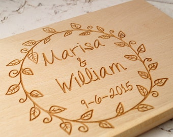 Personalized cutting board, breakfast cheese board, serving board, wooden cheese board, wedding gift, anniversary gift