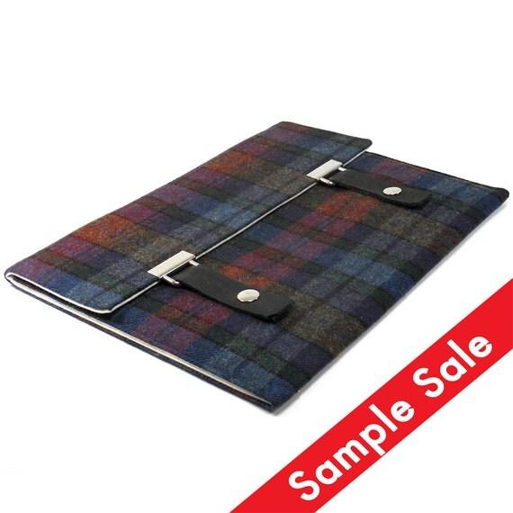 iPad / iPad Air case -purple, blue and green vintage plaid