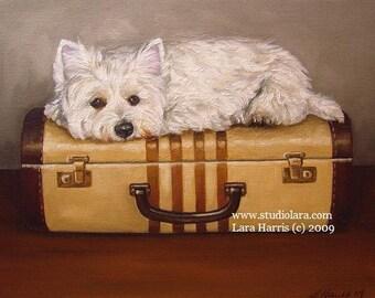 8x10 Don't U 4Get About Me....Westie West Highland Terrier Fine Art Giclee Print by LARA
