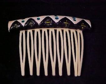 Celluloid NATIVE AMERICAN Ornate Hair Ornament/Hair Comb